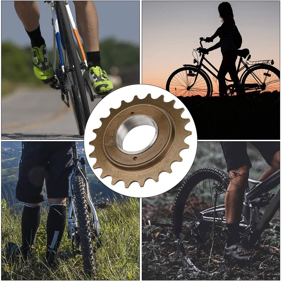 Keenso 1 PCS Drive Single Speed Freewheel Metal Corrosion Resistant High Durability Low Noise Bicycle 22 Teeth Flywheel Bike Cycling Modified Accessory