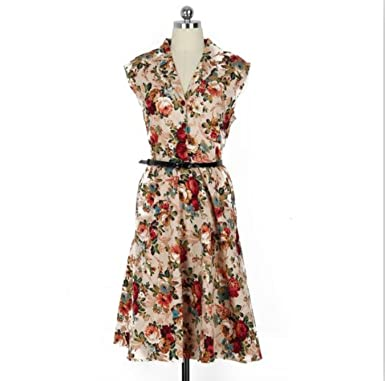 Gorgioous Women Retro Dress Cocktail Tea Party Dress Female Vestidos