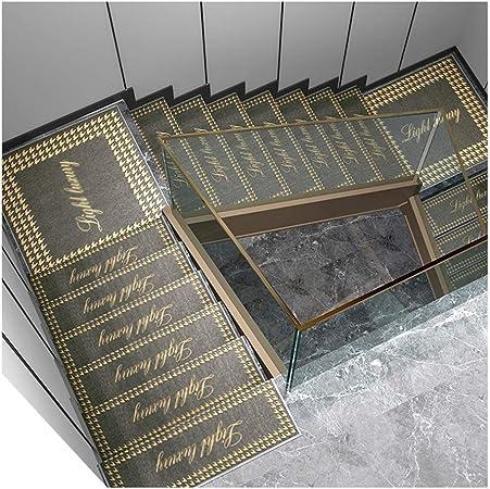 GYL Alfombras de escalera Antideslizante Estera Del Paso, Insonorizadas Y Antideslizante Libre de Cola Autoadhesiva Sólida Escalera de Madera Mats Etiquetas Engomadas Caseras Paso Alfombras para escal: Amazon.es: Hogar