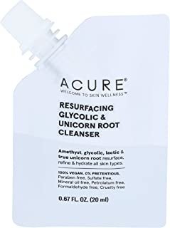 product image for Acure, Cleanser Resurfacing Glycolic Unicorn Root Pouch, 0.67 Ounce