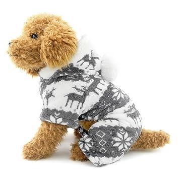 zapatos de temperamento nuevo estilo de gama completa de especificaciones SELMAI Pijamas para Perros Pequeños con Capucha Terciopelo ...