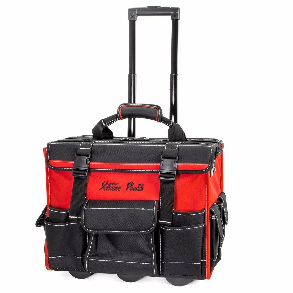 18'' Rolling portable Heavy Duty Portable Tool Bag Storage Organizer Tote pouch by khonanpai