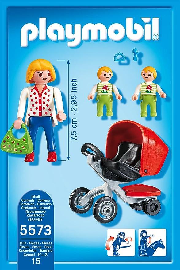 Playmobil Öffentliche Dienste PLAYMOBIL Zwillingskinderwagen Kinder Spielset Baby Spielfiguren Spielzeug NEU