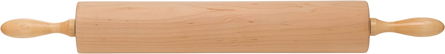 Ateco 18325 Professional Rolling Pin, 18-Inch Barrel, Made of Solid Rock Maple, Made in the USA