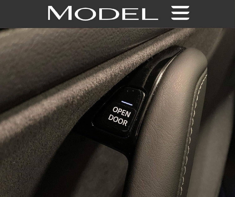 Tesla Model 3 - Juego de etiquetas adhesivas para puertas abiertas Open Door