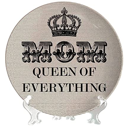 YaYa Cafe Birthday Gifts For Mother Mom Queen Of Every Thing Decorative Plate