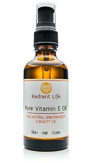 Aceite de belleza de vitamina E, natural de Radiant Life, el mejor para la