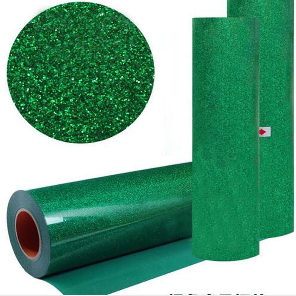 hoho] verde color con purpurina transferencia de calor de vinilo ...