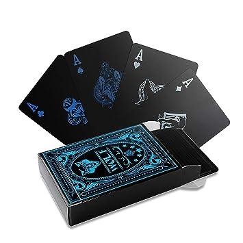 hopefulcom Juego de cartas de póquer impermeables de PVC ...