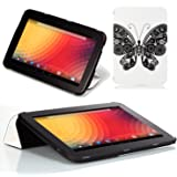 Google Nexus 10 Case - Poetic Google Nexus 10 Case [CoverMATE Series] - [Lightweight] [Art Print] Protective Slim Cover Case for Google Nexus 10 Butterfly (3 Year Manufacturer Warranty From Poetic)