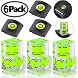 6 Pack Hot Shoe Level, Hot Shoe Bubble Level Camera Hot Shoe Cover 2 Axis Bubble Spirit Level for DSLR Film Camera Canon Nikon Olympus,Combo Pack - 2 Axis and 1 Axis
