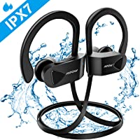 Bluetooth Headphones, Mpow D8 IPX7 Waterproof Wireless Sports Headphones, Bass+ /Hi-Fi Stereo Sounds Sports earbuds, 9 Hours Playtime Sports In-Ear Earphone w/Mic for Running Jogging Gym Workout-Black