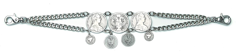 Lederhosen Schmuck Herren Trachtenschmuck : Charivari Trachten Accessoire -- Münzen Kreuzer Farbe: silber
