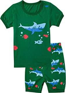 HYY Kids Boy Pajama Short Sets 100/% Cotton Summer Sleepwear Dinosaur size2T-12years