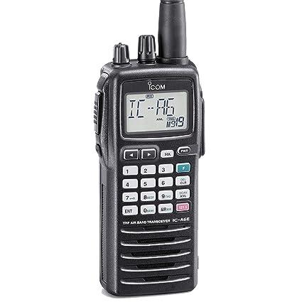 02079e69968 ICOM IC-A6E Portable VHF COM Transceiver with 25 kHz  Amazon.co.uk ...