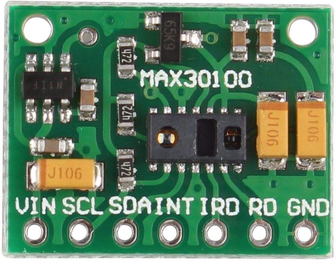 HAPPY-DZ práctico MAX30100 Pulsioxímetro Módulo Sensor de Frecuencia Cardíaca para Wearable Health Fitness Assistant Dispositivos Dispositivos de supervisión médica