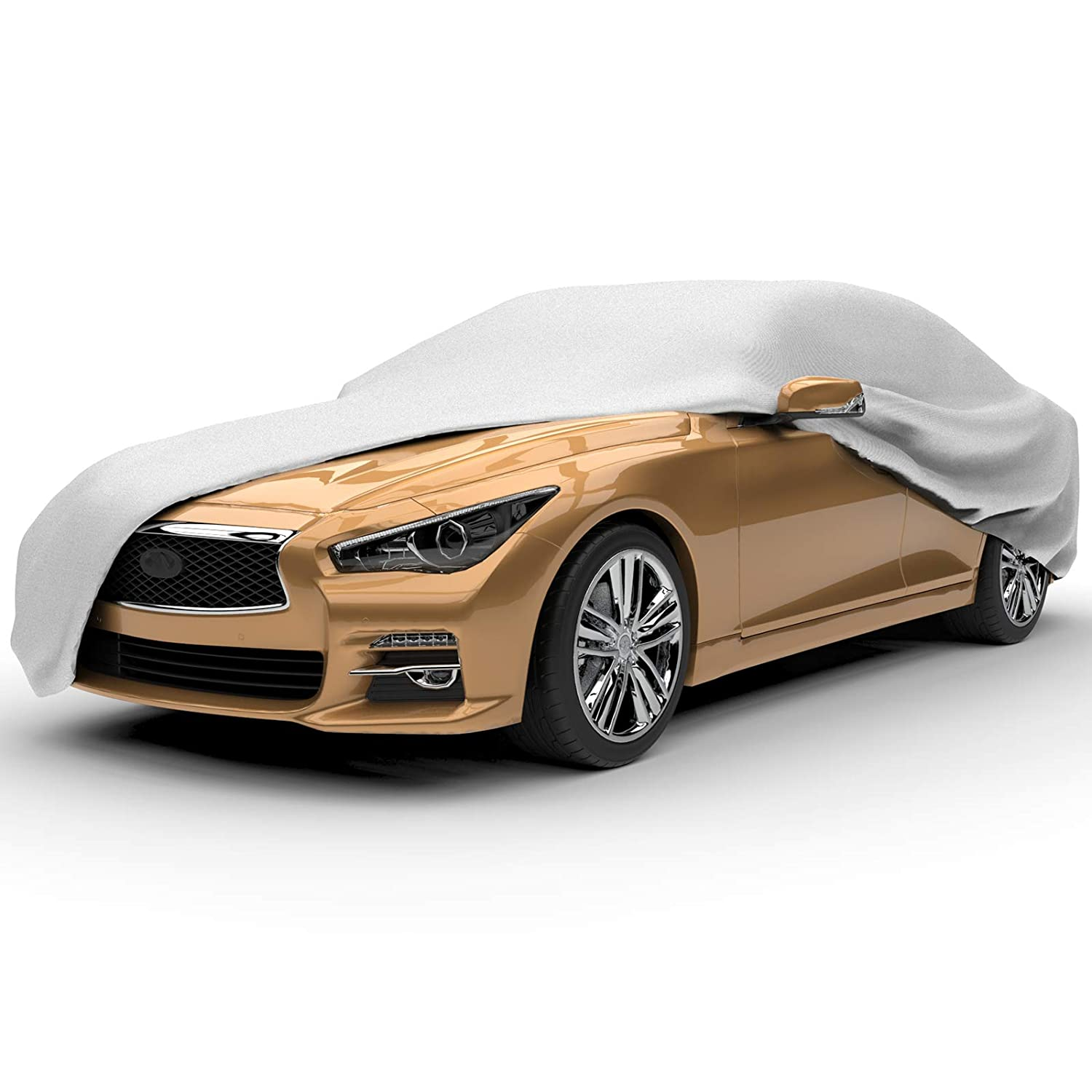best car covers Budge Lite Car Cover Indoor/Outdoor, Dustproof, UV Resistant, Car Cover Fits Sedans