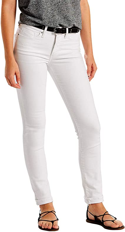 Amazon Com Levi S Slim Jean Pantalones Vaqueros Para Mujer 34 Blanco Clothing