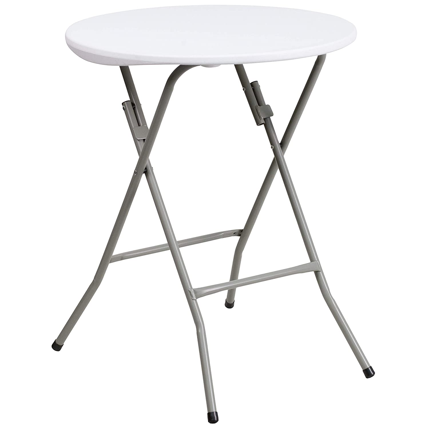 Flash Furniture 2-Foot Round Granite White Plastic Folding Table – DAD-YCZ-80R-1-SM-GW-GG