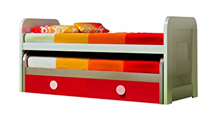 reputable site 7dddb 3f94b Amazon.com: Double Kid Trundle Bed w/ Frame and Bottom ...