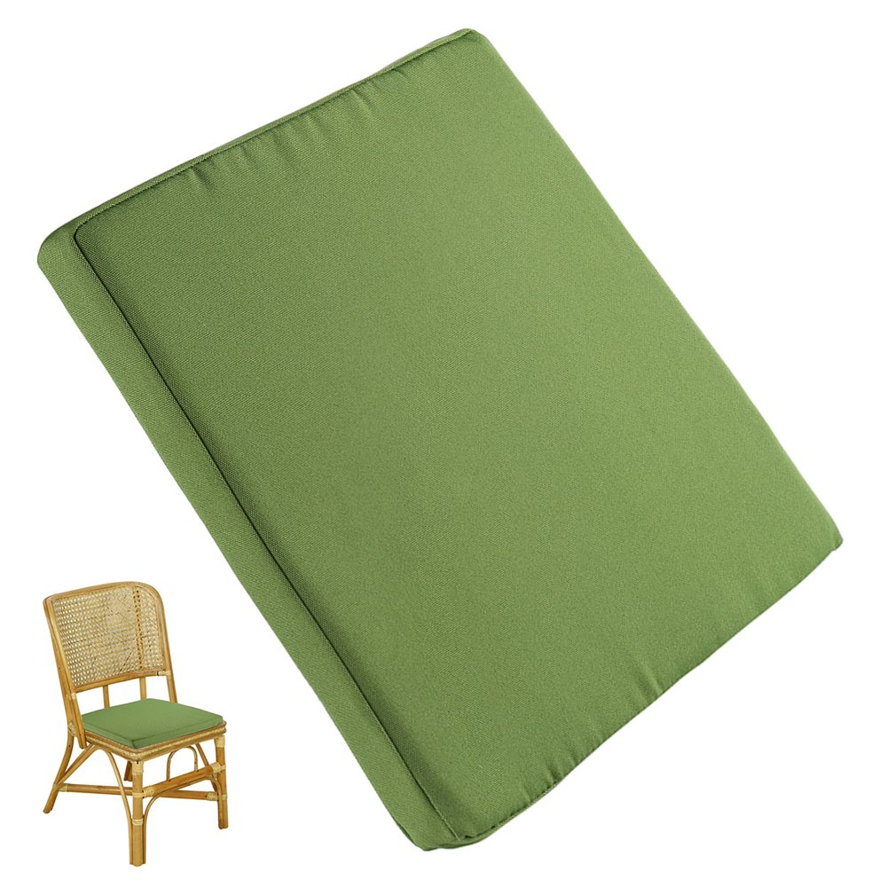 Enjoygous 2 Pack Chair Cushions for Dining Chairs, Square Patio Seat Pads Mat, Comfort, Waterproof Removable Cover, Foam Nonslip For Outdoor Garden Deck Picnic Beach Pool -14'' X 14''