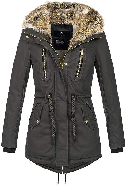 reputable site 2c78a 0033b Navahoo warme Damen Winter Jacke lang Teddyfell Winterjacke Parka Mantel  B648