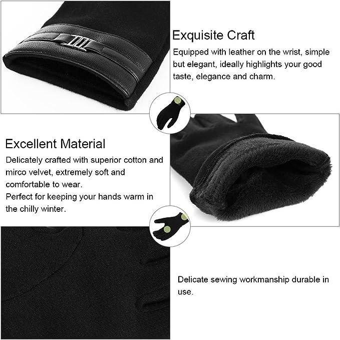 Vbiger Touchscreen Handschuhe Winterhandschuhe Warme Handschuhe ...