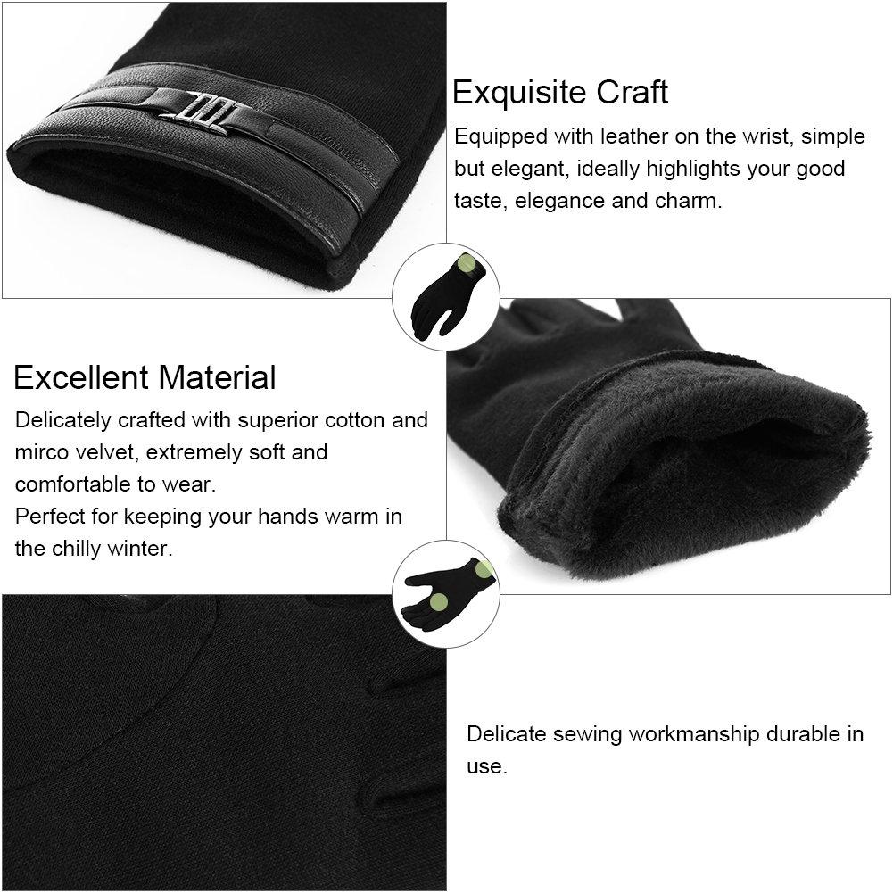 Vbiger Winter Warme Handschuhe Touchscreen Handschuhe Lässige Handschuhe für Männer