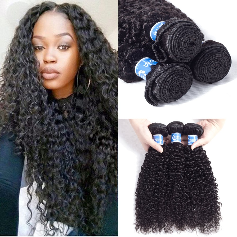 Amazon Com Afro Kinky Curly Weave 10 12 14 Inch Malaysian Curly