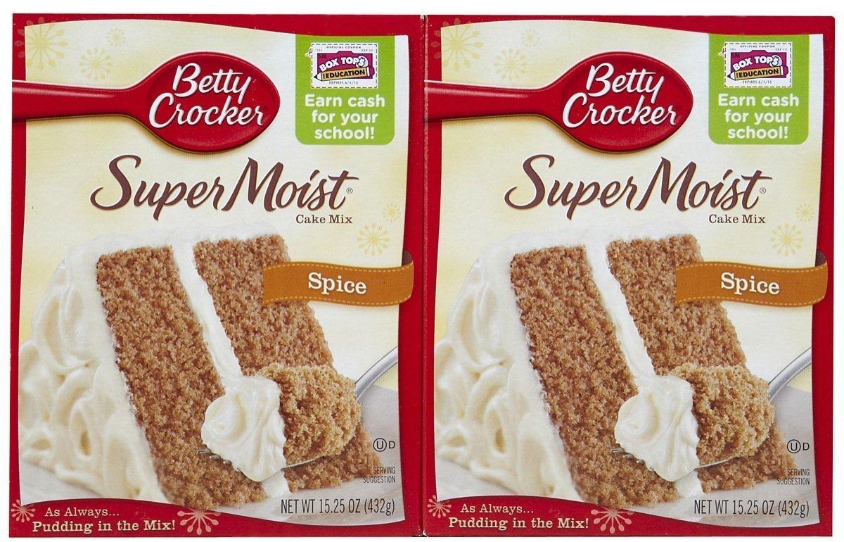Amazon Com Betty Crocker Super Moist Spice Cake Mix 15 25 Oz 2