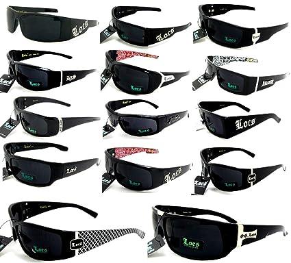 d97be35c06b9 Amazon.com: Locs Sunglasses Lot Of 6 ASSORTED Colors & Styles Below ...