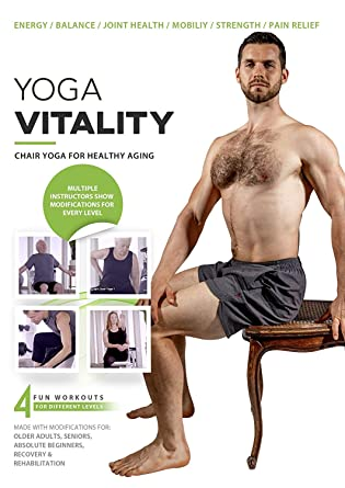 Amazon Com Yoga Vitality Chair Yoga For Seniors Older Adults And Absolute Beginners Made For Healthy Aging Improved Mobility Joint Health Balance Pain Relief And Injury Prevention 4 Levels Movies Tv
