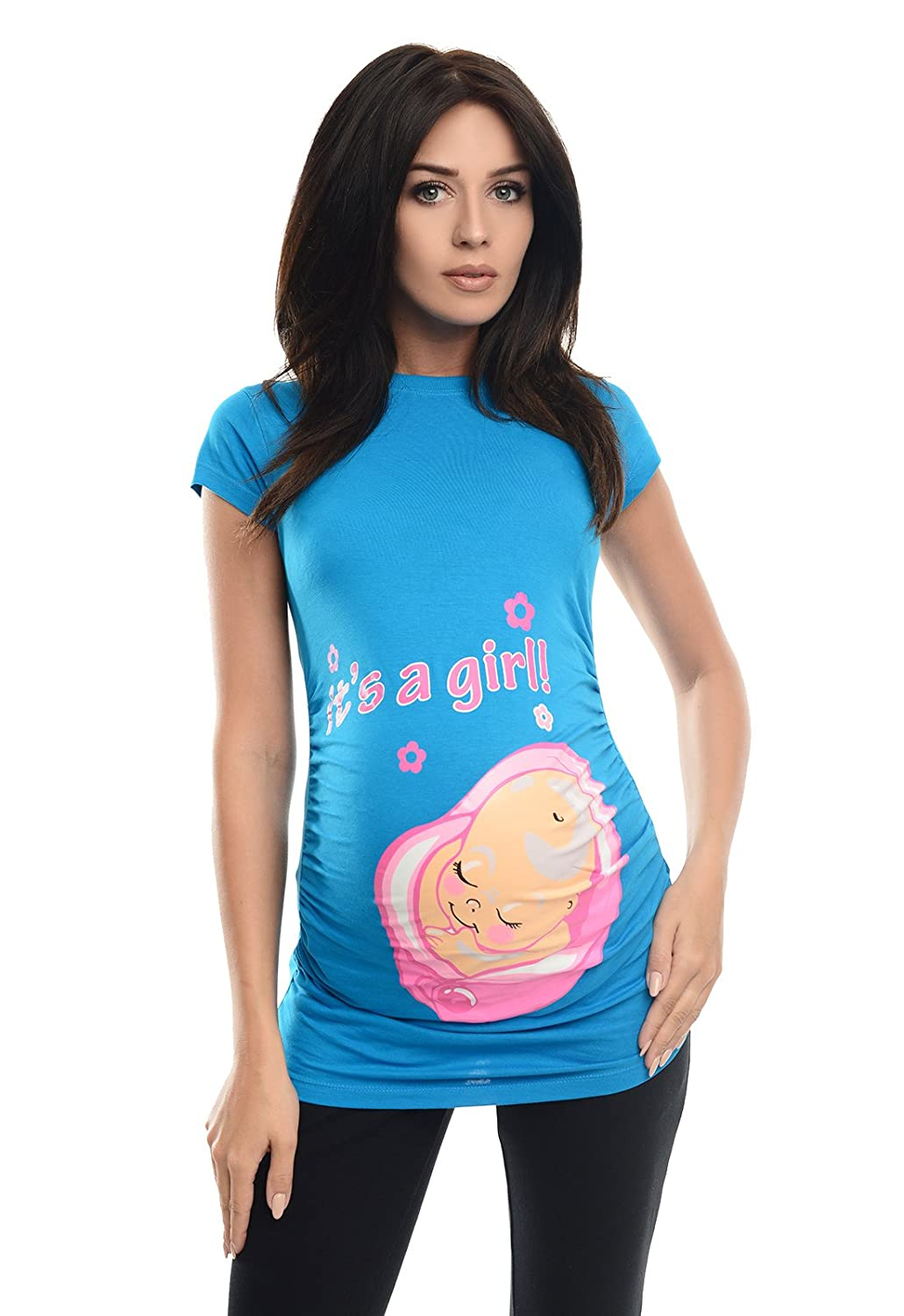 Purpless Maternity It's a Girl- Cotton Printed Maternity Pregnancy Top T-shirt 2001