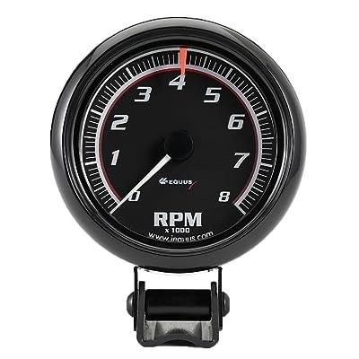 "Equus 6086 2-1/2"" Mini Tachometer, Black: Automotive"