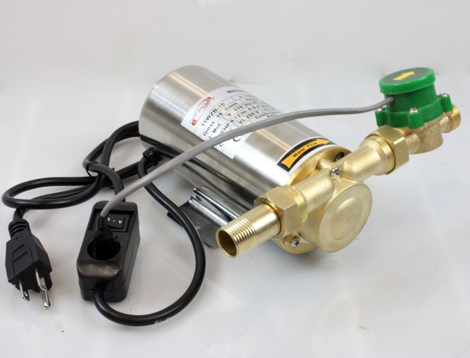 Miniature 90W Self Priming Domestic Shower Pressure Water Booster Stainless Pump By Allgoodsdelight365