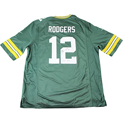 Image Unavailable. Image not available for. Color  Aaron Rodgers Signed  Green Bay Packers Green Replica Jersey ... 7c2cf49ba