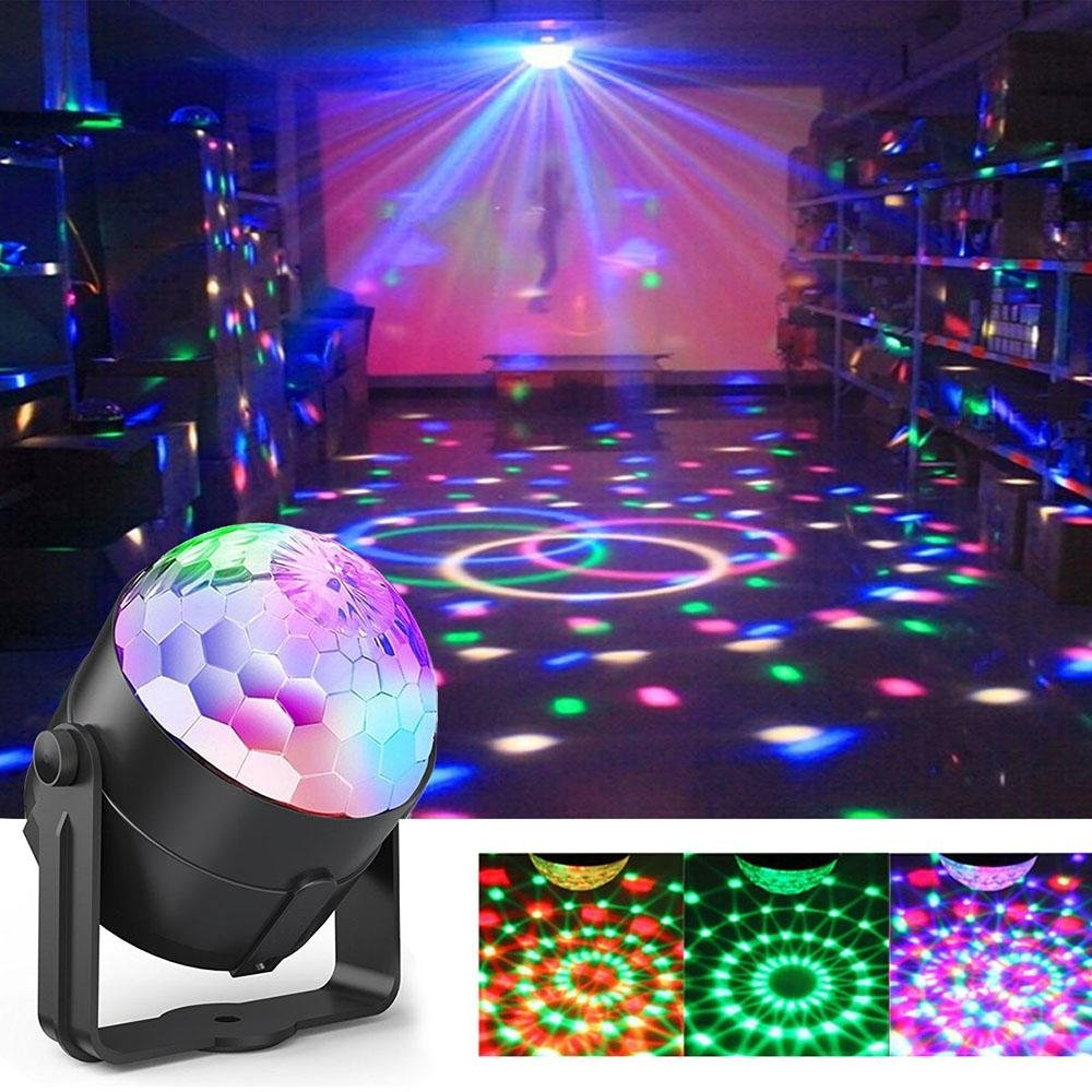 Party Ball Lights, Sound Activated DJ Stage Lights RBG Disco Ball Light with Remote Control for KTV, Party, Wedding, Show, Club Pub Disco DJ and More