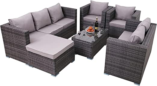YAKOE 51014 Nueva conservatorio Muebles de jardín de Mimbre sofá ...