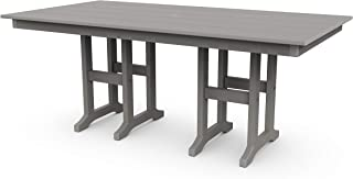 product image for POLYWOOD Lakeside Dining Table, Slate Grey