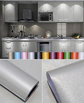 Liveinu Aufkleber Küchenschränke PVC Tapeten Küche Selbstklebend Klebefolie  Möbel Wasserfest Aufkleber für Schrank Küchenschränke Möbel ...