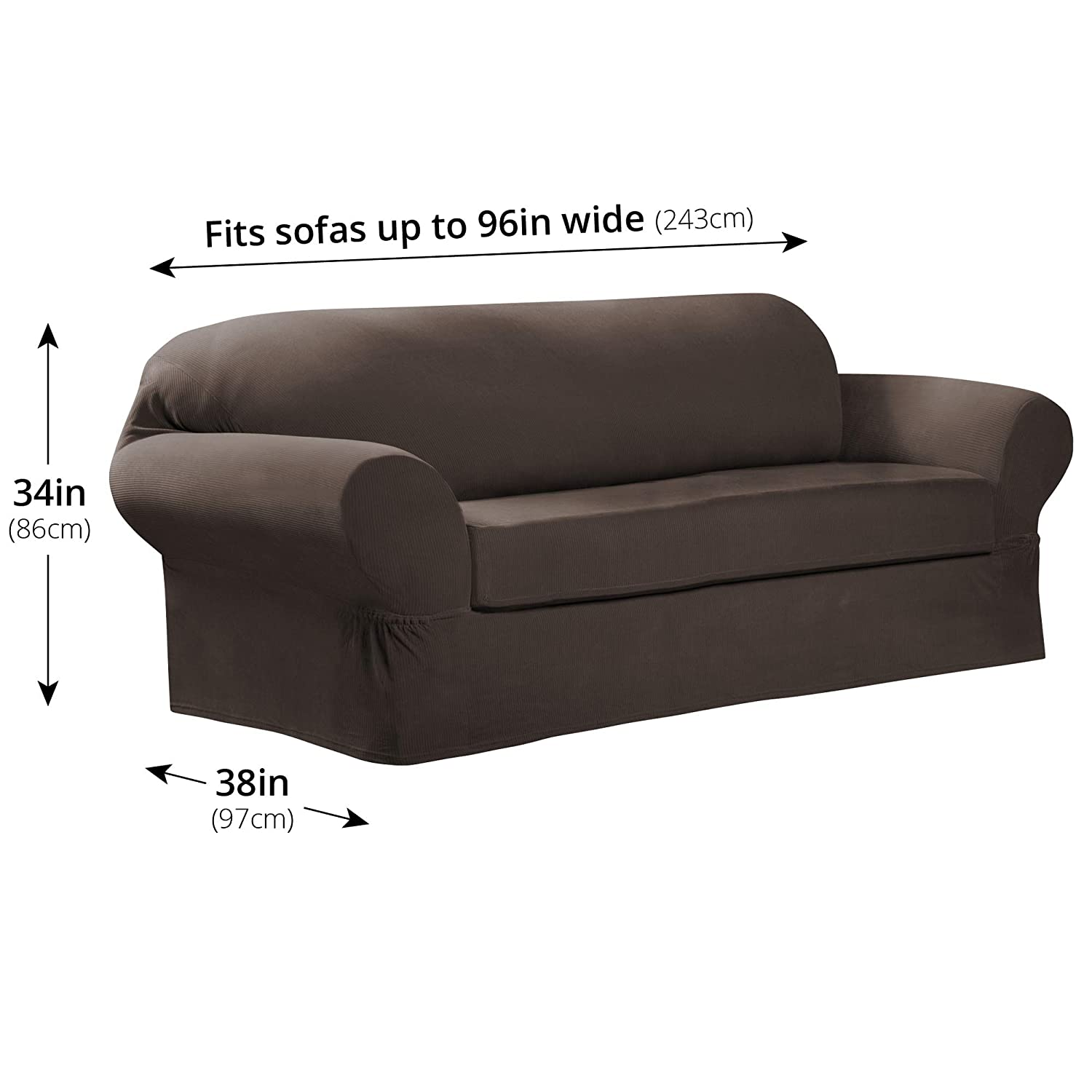 MAYTEX Collin Stretch - Funda para sofá, Moca, Sofa: Amazon ...