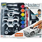 Modarri Delux Paint It Auto Design Studio | Paint and Build Your own Toy Car | Creative STEM and Art Craft Kit…