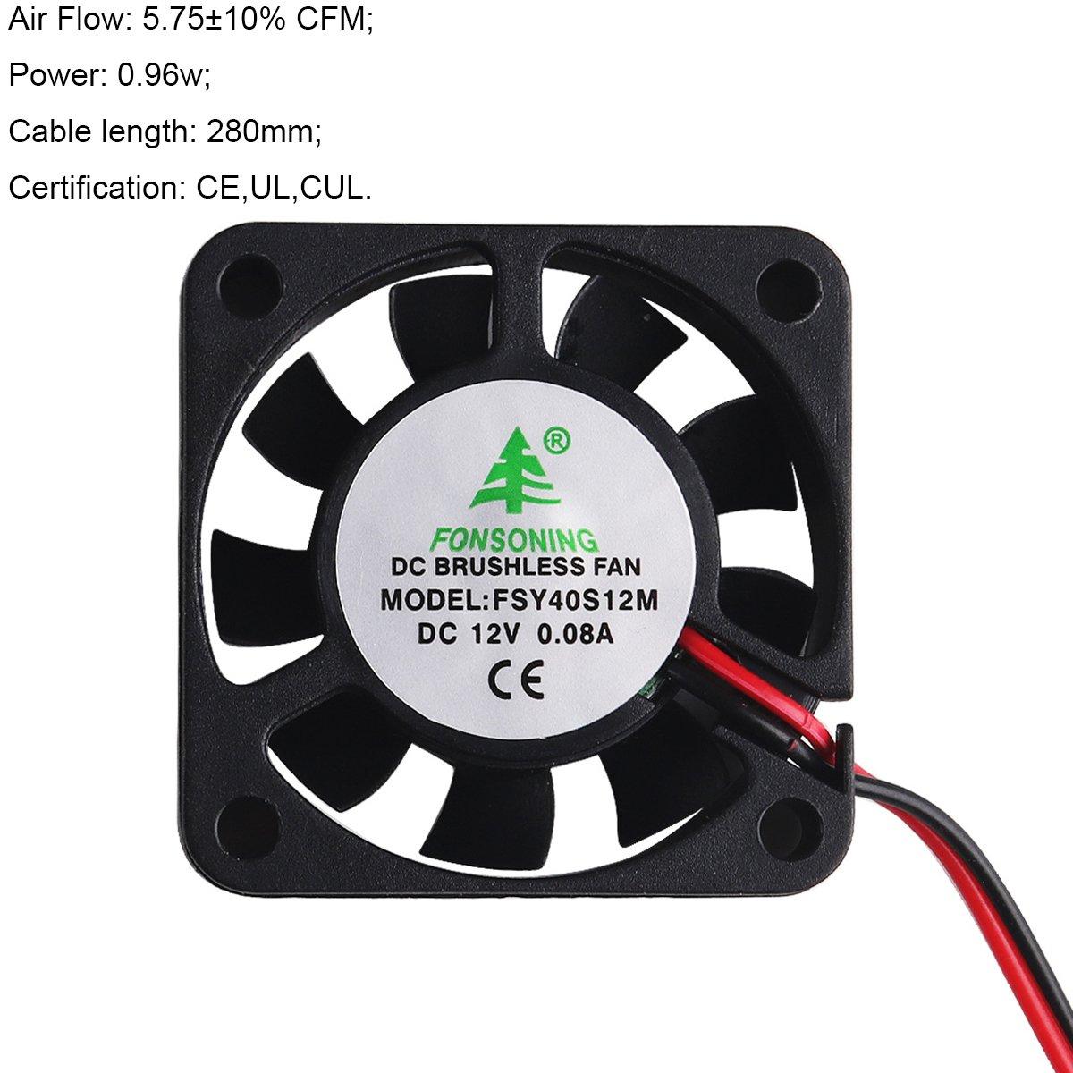 Makerhawk 4pcs 3d Drucker Fan 12v 0 08a Dc Mini Lüfter