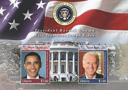 Barack Obama Presidential Commemorative Liberia 9 Stamps