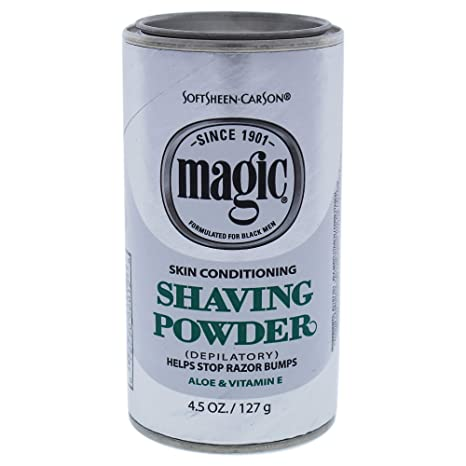Amazon Com Razorless Shaving For Men By Softsheen Carson Magic Skin Conditioning Shaving Powder With Vitamin E And Aloe Formulated For Black Men Depilatory Helps