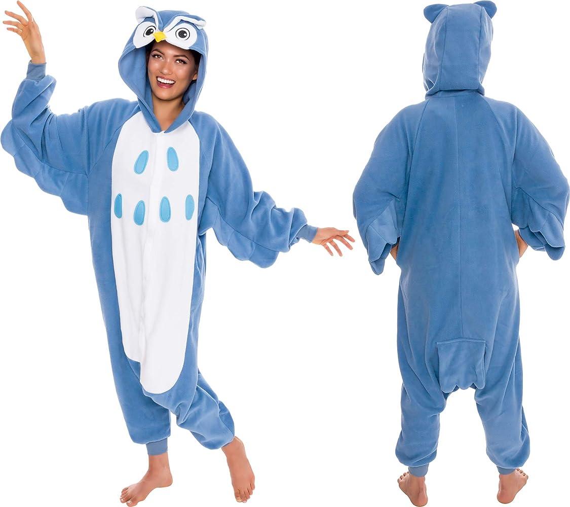 Silver Lilly Adult One Piece Slim Fit Animal Shark Costume Pajamas