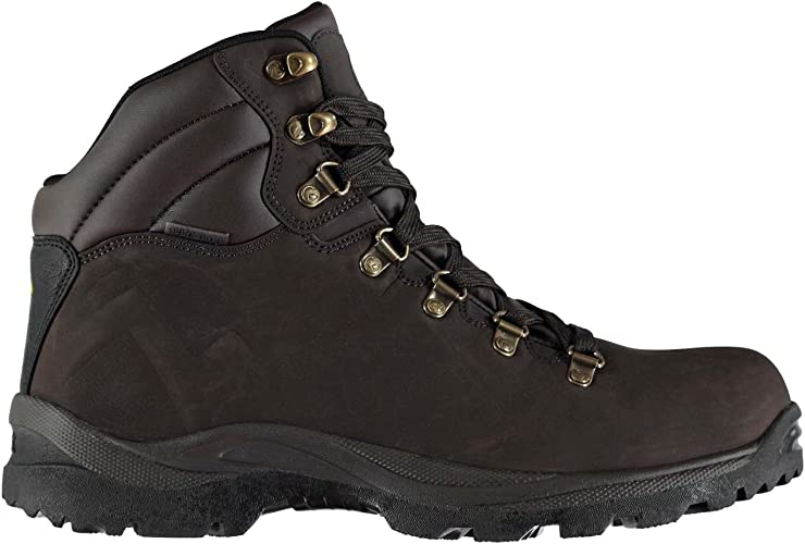 Gelert Leather Boot Childrens Walking Boots Laces Fastened Upper Cushioned Ankle