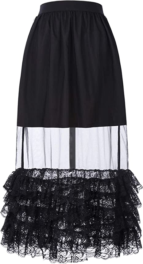 NVDKHXG BP Falda Negra Retro Vintage Mujer Desgaste del Verano ...