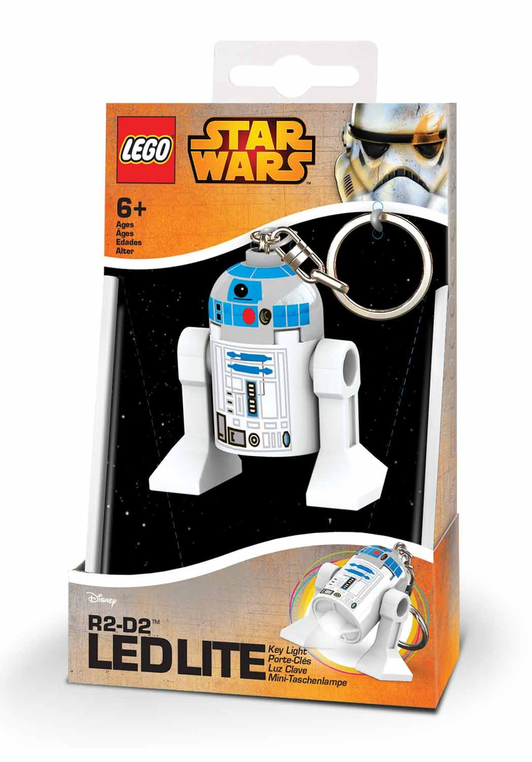 LEGO - Star Wars R2D2, mini linterna, 7,6 cm (20394-15)