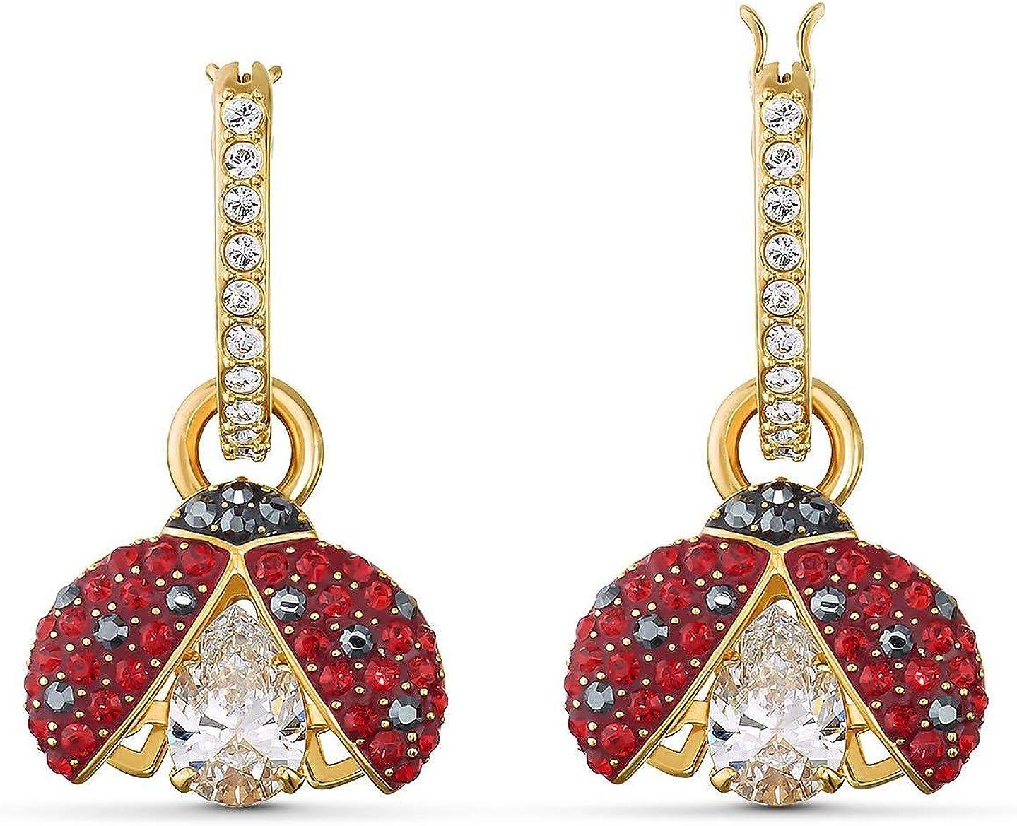 Swarovski Sparkling Dance Ladybug Pierced Earrings